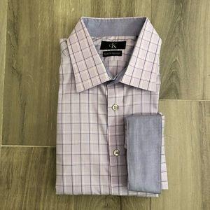 Calvin Klein 161/2 36 37 Lavender Dress Shirt